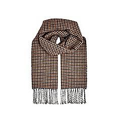 Burton - Multi colour houndstooth check scarf