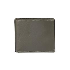 Burton - Khaki leather bifold wallet