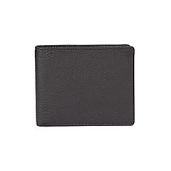 Burton - Black leather bifold wallet