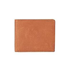 Burton - Tan leather bifold wallet