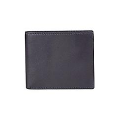 Burton - Navy leather bifold wallet