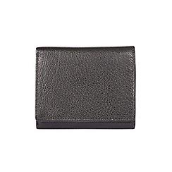 Burton - Black leather trifold wallet
