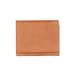 Burton - Brown leather trifold wallet