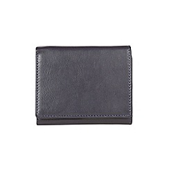 Burton - Navy trifold leather wallet