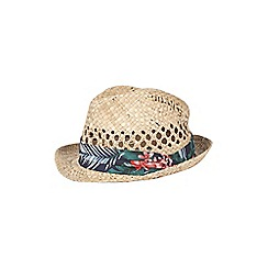 Burton - Woven floral trilby hat