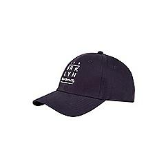 Burton - Navy embellished baseball cap
