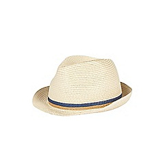 Burton - Striped woven trilby hat