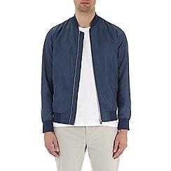 Burton - Blue nylon bomber jacket