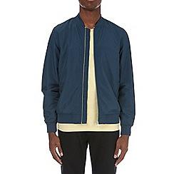 Burton - Petrol blue nylon bomber jacket