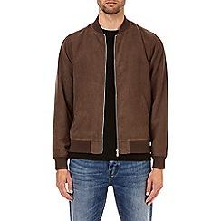 Burton - Choc suedette bomber jacket