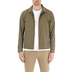 Burton - Khaki nylon collared harrington jacket