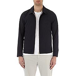 Burton - Navy nylon collared harrington jacket