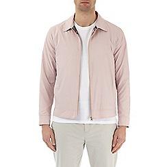 Burton - Pink nylon collared harrington jacket