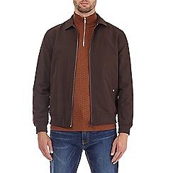 Burton - Chocolate collared Harrington jacket