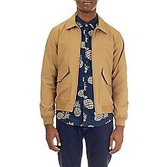 Burton - Light brown cotton jersey harrington jacket