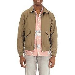 Burton - Brown cotton jersey harrington jacket