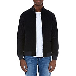 Burton - Navy cord harrington jacket