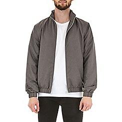 Burton - Grey funnel neck lightweight jacket