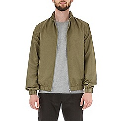 Burton - Khaki funnel neck lightweight jacket