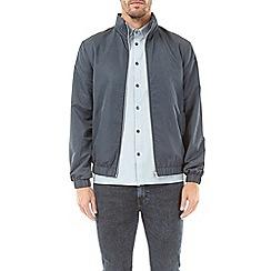 Burton - Navy funnel neck lightweight jacket