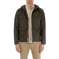 Burton - Khaki rubber four pocket jacket