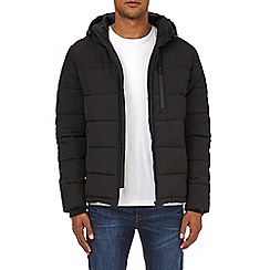 Burton - Black midweight hooded padded jacket