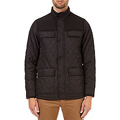 Burton - Black diamond quilted jacket