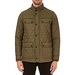 Burton - Khaki diamond quilted jacket
