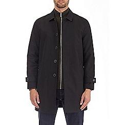 Burton - Black single breasted mac coat