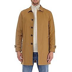 Burton - Tan single breasted mac coat