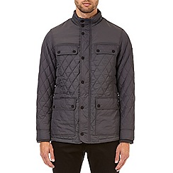 Burton - Charcoal diamond quilted jacket