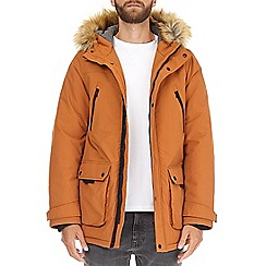 Burton - Orange oak faux fur parka