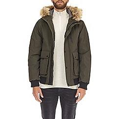 Burton - Khaki acorn short parka jacket
