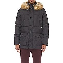 Burton - Black faux fur hooded smart parka
