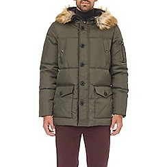 Burton - Khaki faux fur hooded smart parka jacket