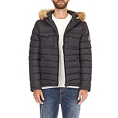 Burton - Black two tone lightweight hooded padded jacket