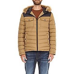 Burton - Tan two tone lightweight hooded padded jacket
