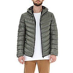 Burton - Khaki glacier quilted hooded jacket