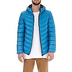 Burton - Deep blue glacier quilted hooded jacket