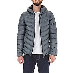 Burton - Slate glacier quilted hooded jacket