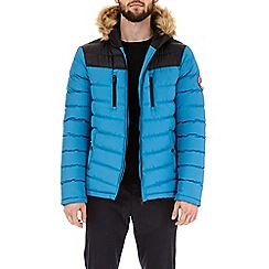 Burton - Deep blue inverness quilted jacket