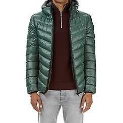 Burton - Green glacier quilted and hooded jacket