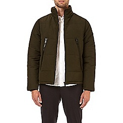 Burton - Khaki cedar funnel neck padded jacket