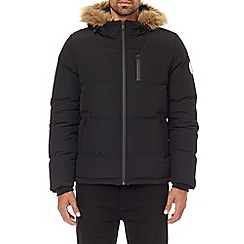 Burton - Black birch fur hooded puffer jacket