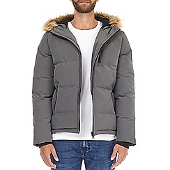 Burton - Grey 'Birch' fur hood puffer jacket