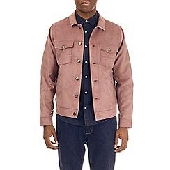 Burton - Pink taupe suedette trucker jacket