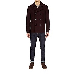 Burton - Burgundy wool peacoat