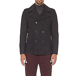 Burton - Black Faux Wool Pea coat
