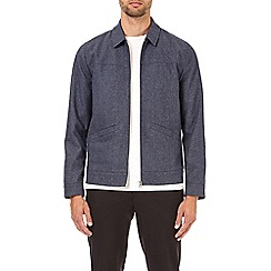 Burton - Blue wool Harrington jacket