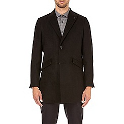 Burton - Black faux wool chesterfield coat